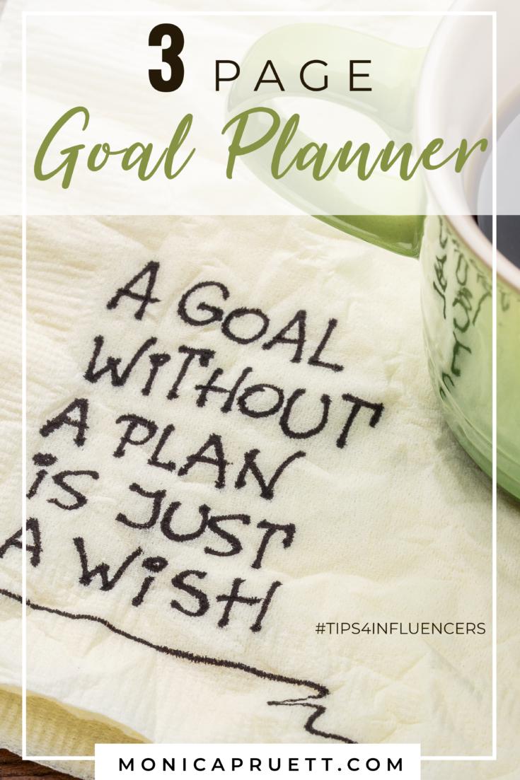3 Page Goal Planner MonicaPruett