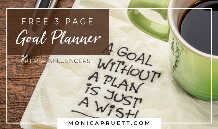 FREE 3 Page Goal Planner MonicaPruett