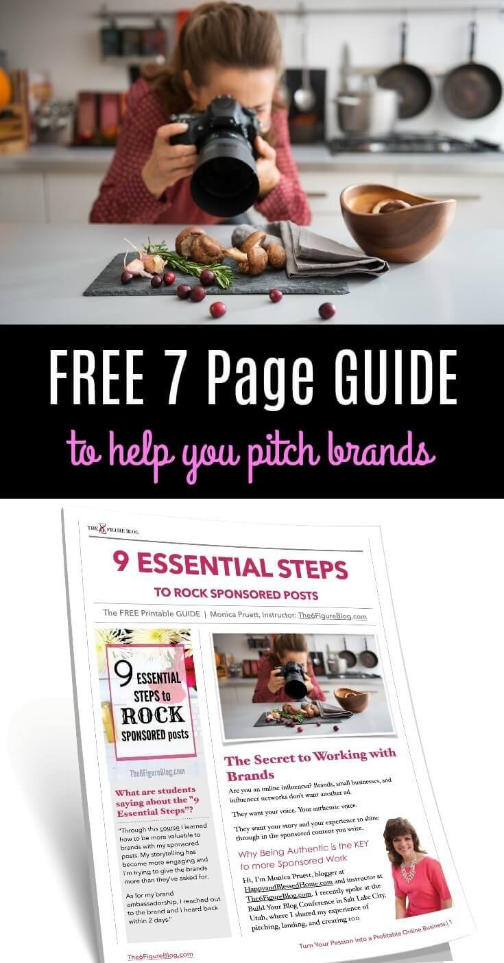 FREE 7 Page Guide to Help you Pitch Brands for Bloggers and Online Influencers