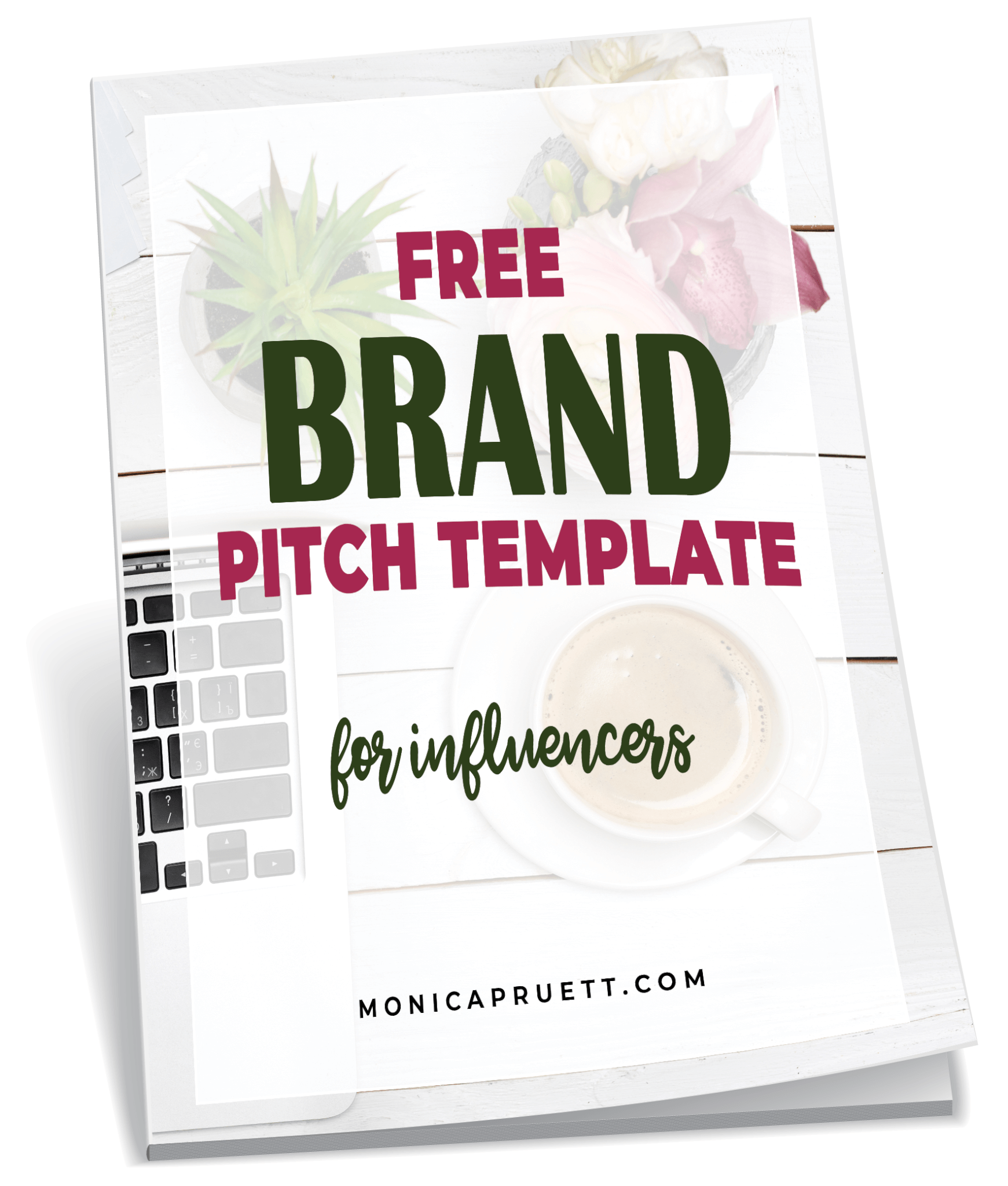 FREE Brand Pitch Template Workbook Cover on Workbook